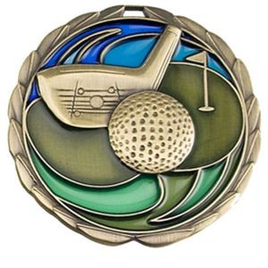 Stock Color Medals - Golf