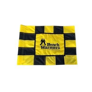 Checkered Golf Flag Embroidery on front