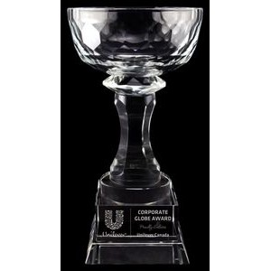 "8.5"" Aspire Bowl Crystal Award"