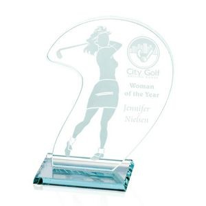 "Female Golfer Award - Jade 6""x8"""